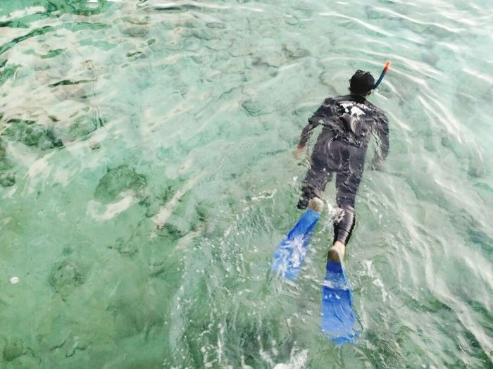 Snorkeling in Sabang High Angle View Real People Men Water Swimming Lifestyles One Person Nature Outdoors Sea Adult Snorkeling Snorkelingspot Sabang Aceh, Indonesia Rubiah Island Leisure Vacation Holiday South East Asia Second Acts