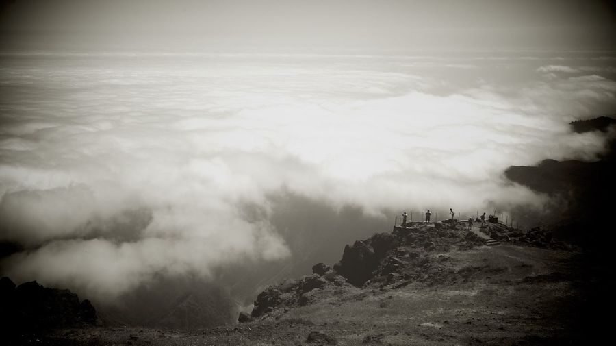 Beauty In Nature Cloud - Sky Mountain Nature Non-urban Scene Outdoors Power In Nature Sky Sony A6000 Tranquil Scene Sepia