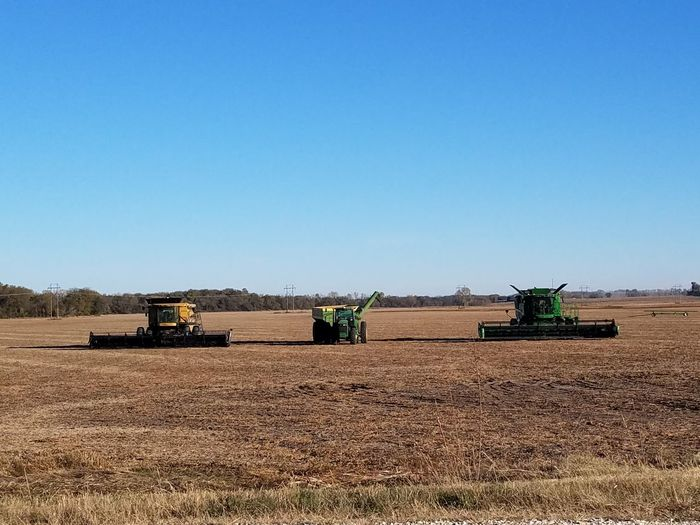 End Of Summer End Of The Harvest Combines Field
