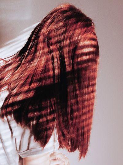 Redhead Redhair Long Hair Red Females Studio Shot Beauty Fashion Close-up Hair Care Hair Salon Dye Dyed Hair