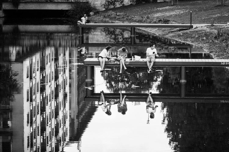 A dream within a dream Streetphoto_bw Black And White Streetphotography Blackandwhite Check This Out Hello World Milano Reflection Taking Photos Hi!
