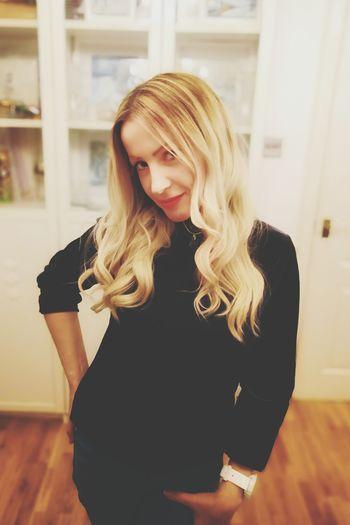 posing Honor 10 Blond Hair Young Women Long Hair Standing Beautiful Woman Long Sleeved Thoughtful Turtleneck Posing Sweater Medium-length Hair Wearing Thinking Wavy Hair Knitted  Cardigan Sweater