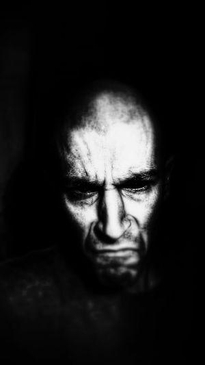 Black And White Dark Portrait Evil Face Darkeyes