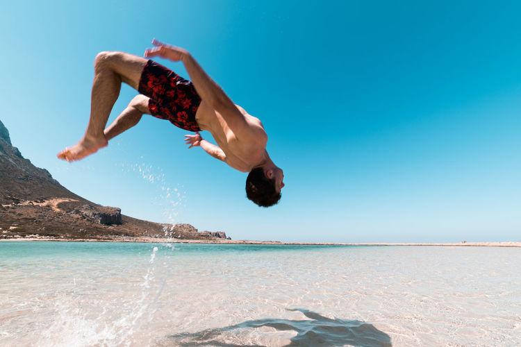 Backflip on the beach