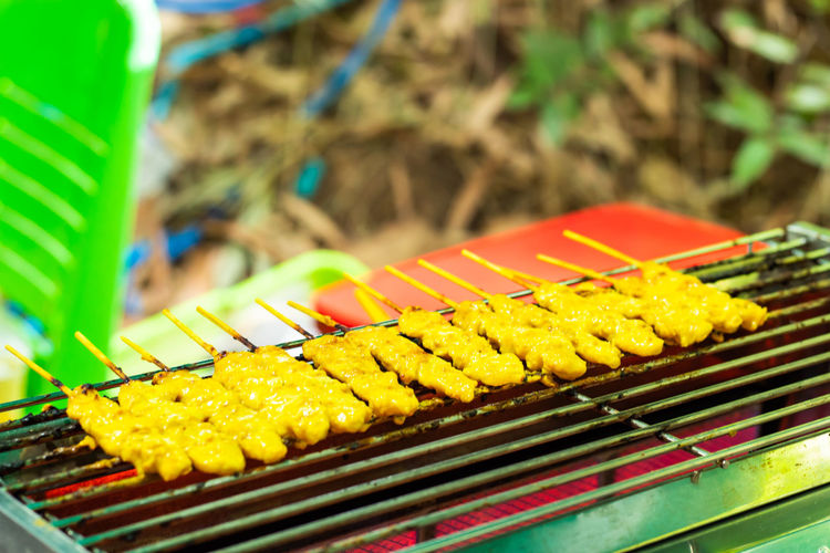 Barbecue Barbecue Grill Close-up Corn Day Focus On Foreground Food Food And Drink Freshness Grilled Healthy Eating Nature No People Outdoors Preparation  Skewer Sweetcorn Vegetable Wellbeing Yellow