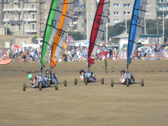 Sandyachting Outdoors Beach Beachphotography Togetherness Practicing Leisure Activity Watching And Waiting Camera Ready Taking Photos Weston-super-mare Somerset England Shore Expectation Of Colours Abound Racing