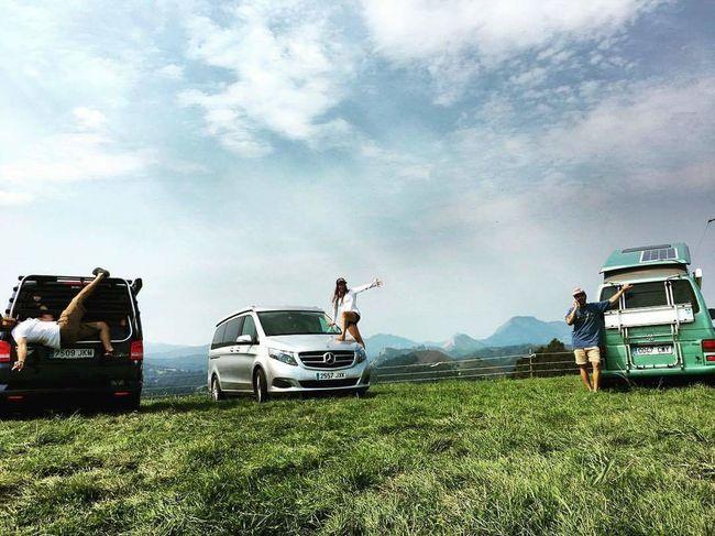 4x4 Rural Scene Land Vehicle Car Men Field Off-road Vehicle Sky Grass Cloud - Sky