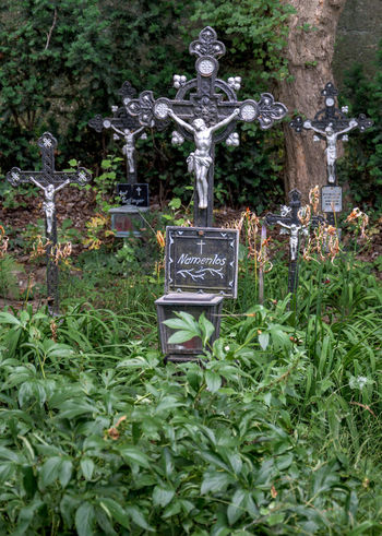 Cemetery of the Unnamed, Vienna, Austria Cemetery Architecture Art And Craft Belief Cemetery Day Grave Human Representation Male Likeness Memorial Nature No People Outdoors Plant Religion Representation Sculpture Statue Stone Text Tombstone