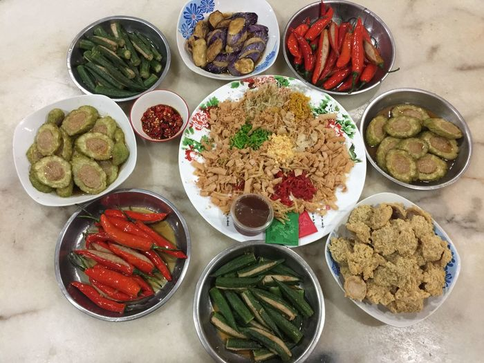 Mum Cooking Food Food And Drink Variation High Angle View Freshness Choice Plate No People Healthy Eating Bowl Ready-to-eat Chinese Food Chinese Culture Day