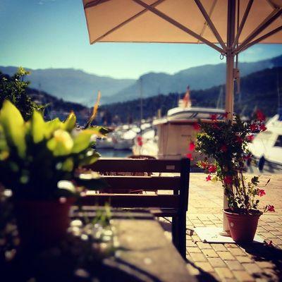 Coffee with a view. ☕ Coffeetweet Endlesssummer Lifeisgood Portdesóller Mallorca Baleares