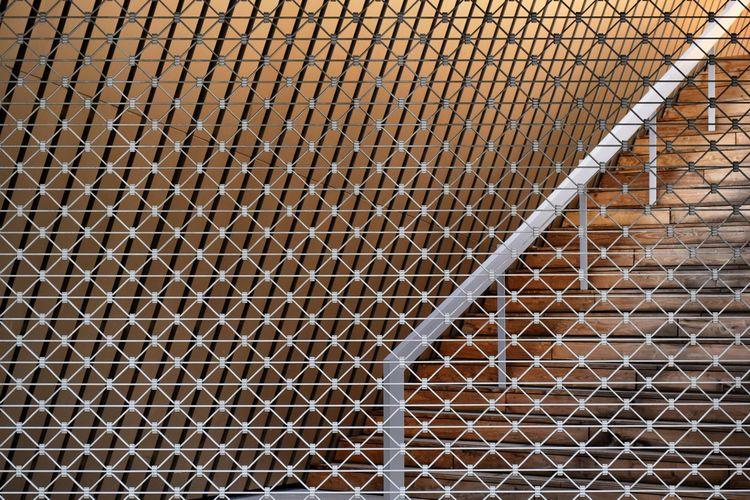Mons Mons, Belgium Belgium MICX Daniel Libeskind Daniel Liebeskind Architecture Stairs Artchitecture ArchiTexture Texture Textures And Surfaces Textured  Pattern Close-up Repetition Geometric Shape No People Backgrounds Minimal Minimalism Mininalist Vibrant Color
