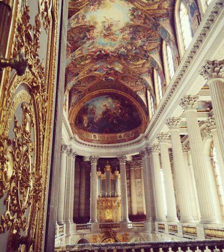 Indoors  Gold AllGoldEverything Architecture History Versailles Versailles, France Palace Château Château De Versai Chapel Baroque Royal G Cultural Heritage Culture