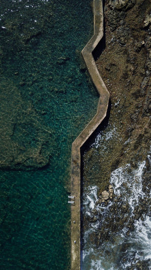 nature pool Water No People Nature Day High Angle View Outdoors Beauty In Nature Tranquility Rock Scenics - Nature Sea Land Rock - Object Solid Tranquil Scene Pool Swimming Pool Rock Drone  Dronephotography EyeEm Best Shots EyeEmNewHere EyeEm Nature Lover EyeEm Selects EyeEm Gallery