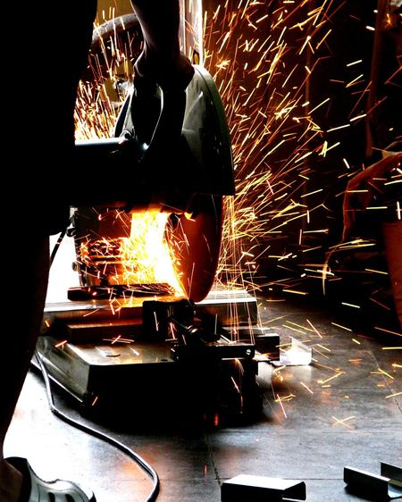 Low Section One Man Only Only Men One Person Adults Only Metal Industry Close-up Human Body Part Factory Material Laboratory Workshop Workshoplife Occupation