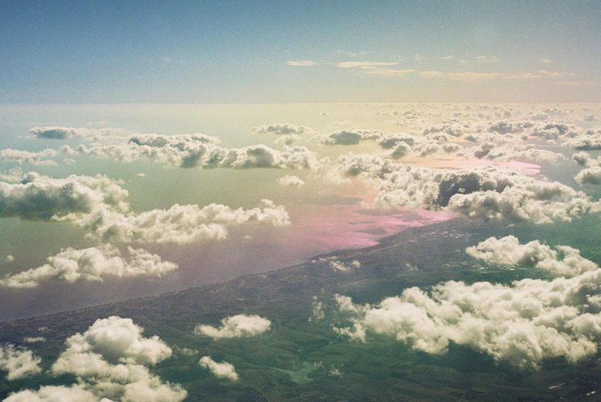 35mm Film Film Photography Filmisnotdead Analogue Photography Beauty In Nature Sky No People Tranquility Nature Scenics - Nature Tranquil Scene Cloud - Sky Full Frame Cloudscape Aerial View Environment