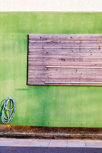 Green Green Color Building Exterior Wall Wall - Building Feature Green Wall Minimalism Minimalistic
