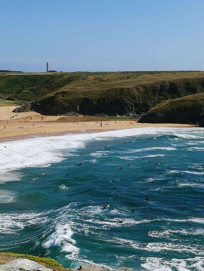 Lighthouse Ocean View Waves, Ocean, Nature Surfers