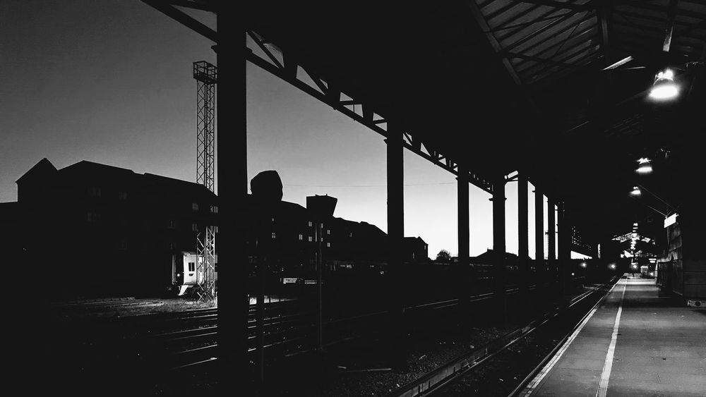 Black and white train station IPhone7Plus IPhoneography Landscape Blackandwhite Chester Station Chester Built Structure Transportation Architecture Sky Mode Of Transportation Silhouette Nature Day Travel No People Land Vehicle Train Railroad Station Rail Transportation Public Transportation Track