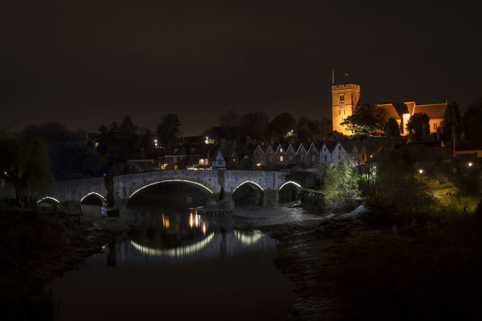 Aylesford medieval bridge and church, kent, england. Christian Church Maidstone, Kent, UK Medway Architecture Aylesford Bridge Bridge - Man Made Structure Building Exterior Built Structure History Illuminated Medieval Night Reflection River Stone Tide Out Travel Destinations Water