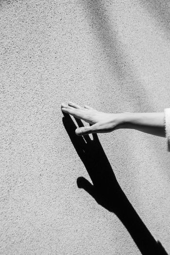 the hand and its shadow Handsome Holding Art Wall Minimalism Black White Color Woman Shadow Hand Daylight Sunlight Summer The Minimalist - 2019 EyeEm Awards