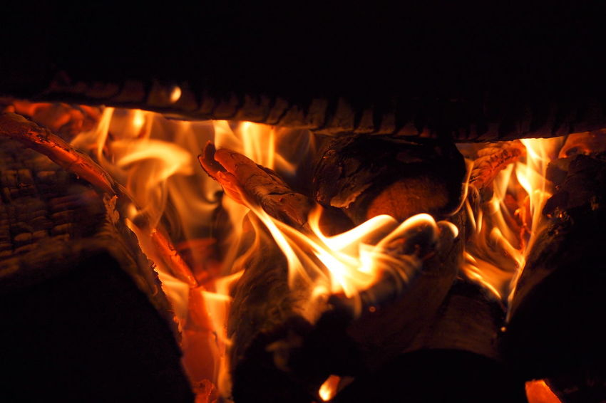 Beauty In Nature Bonfire Burning Campfire Close-up Fire - Natural Phenomenon Flame Heat - Temperature Nature Night No People Outdoors