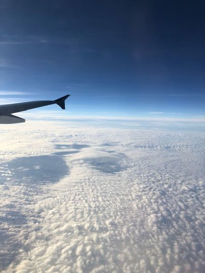Airplane Wing Sky Journey Nature Travel Cloud - Sky Beauty In Nature Scenics
