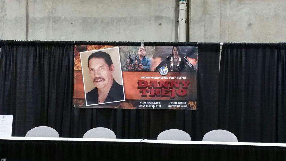 Danny Trejo's booth Wizard World Sacramento 2015 Machete