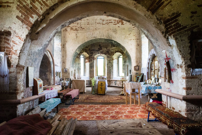 Arch Architecture Church Church Architecture Day Daylight Desolate Indoors  No People Old Ruin Temple
