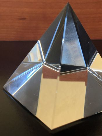 Glass pyramid Close-up Day Design Diamond Shaped Glass Glass Pyramid Indoors  Light No People Reflection Shapes And Forms
