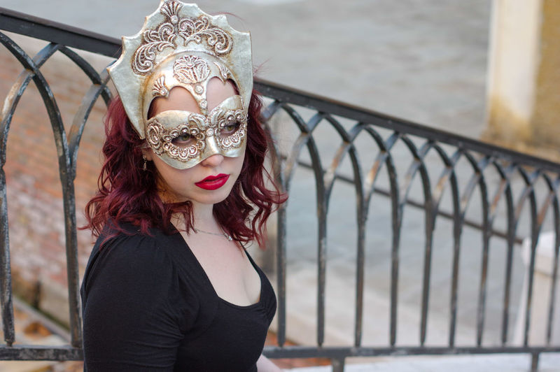 Bridge Carnival City Close-up Day Europe Focus On Foreground Iron Railings Italy Mask One Person Outdoors Portrait Real People Travel Venetian Mask Venetian Masks Venice Venice, Italy Young Adult Young Women
