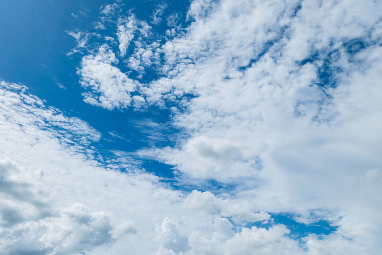 White cloud and beautiful  with blue sky background.
