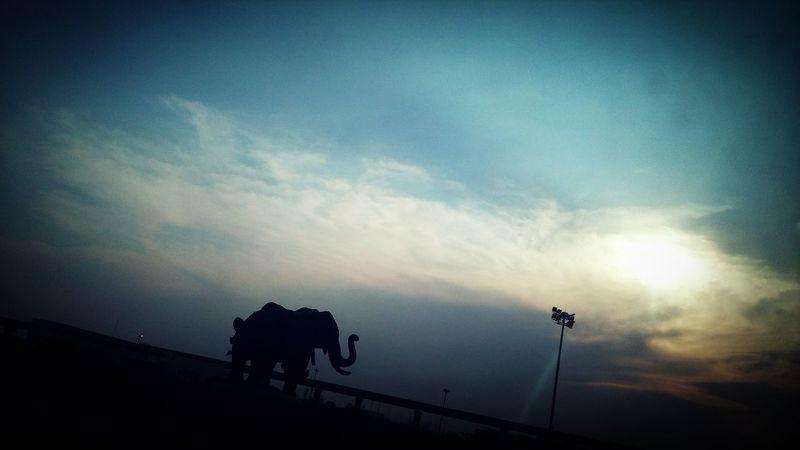 Evening Sky 🌝❤💙💚💛💜😊