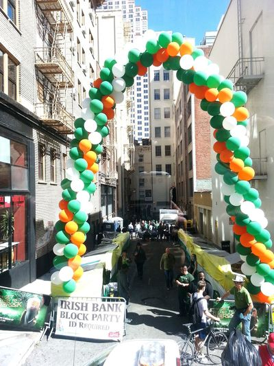 St. Patrick's Day Party In The Street Street Photography San Francisco Travel Photography
