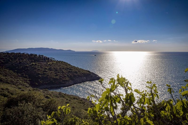 Monte Argentario Reflection Peninsula Tuscany Monte Argentario Seascape Sea Sunset Evening Sun Evening Sea Water Sky Scenics - Nature Beauty In Nature Tranquility Horizon Over Water Tranquil Scene Horizon Nature Land No People Tree Beach Plant Sunlight Idyllic Outdoors Non-urban Scene Bay