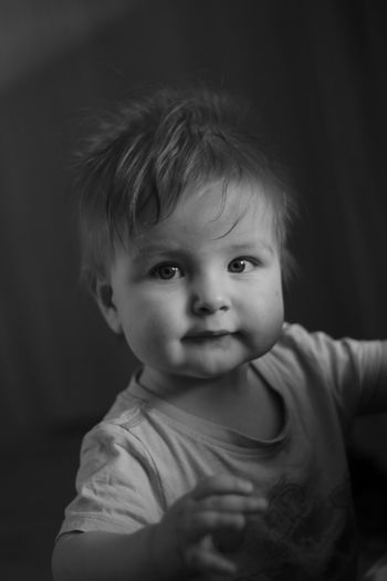 baby Baby Babies Only Portrait One Person Looking At Camera Cute People Human Face Real People Black Background Close-up Day Childhood Human Body Part