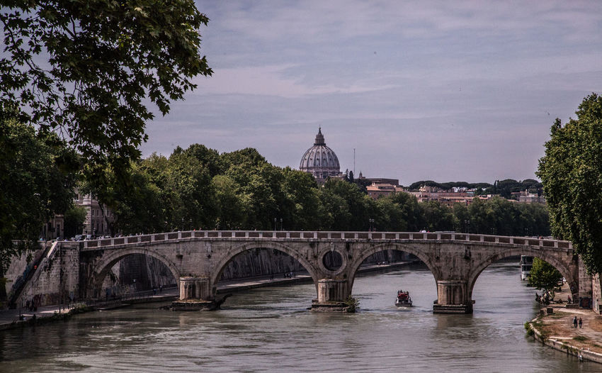 Arch Arch Bridge Architecture Bridge Bridge - Man Made Structure Built Structure Canal Capital Cities  City Cloud Cloud - Sky Cloudy Connection Day Engineering Famous Place Nature No People Outdoors River Sky Tourism Travel Destinations Tree Water Been There.