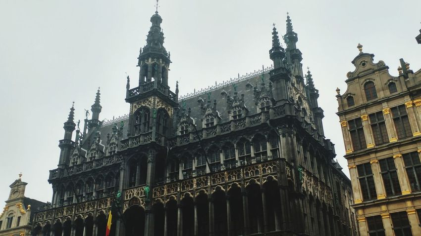 Belgium Brussels Bruxxels Tourism Old Town Old Houses Palace