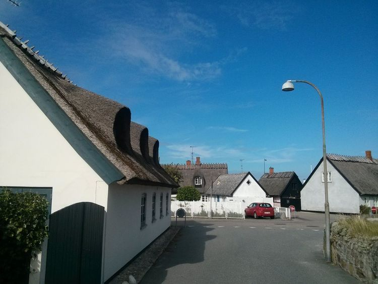 Denmark Gilleleje Beach Town Summer Thached Roof Cute