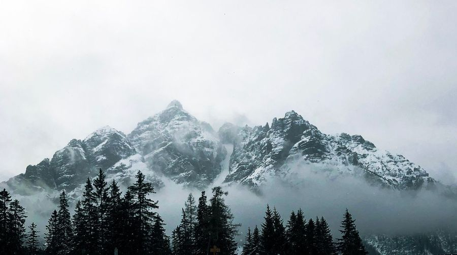 Mountainrange in the Austrian Alps Travel Destinations Austria Mountains In The Clouds Mystic Mountain Mountains And Clouds Mountains Mountain Mountain Range Tree Sky Beauty In Nature Fog Nature Cold Temperature Tranquility Winter Scenics - Nature No People Low Angle View Forest Tranquil Scene Snow Non-urban Scene Outdoors
