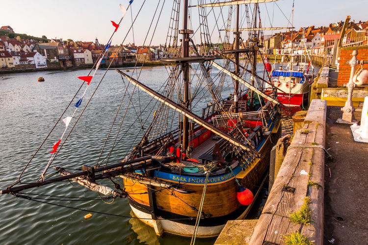 Whitby Whitby Harbour Whitby View Whitby North Yorkshire North Yorkshire Seaside Seaside Town Yorkshire Coast Tourist Destination Ship Nautical Vessel Fishing Boat Sailboat River Sky Mast No People Harbor Day Fishing Industry Port Moored Water Transportation Mode Of Transportation