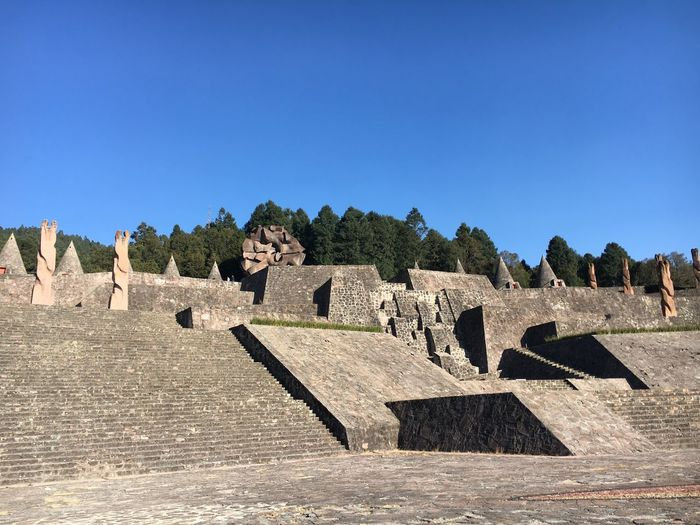 Mexicodesconocido Sky Architecture Sunlight Nature No People Day Blue Clear Sky History Copy Space Art And Craft The Past Built Structure Shadow Outdoors Tree Stone Ancient Text