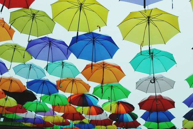 Beautifully Organized Multi Colored Protection Variation Outdoors Large Group Of Objects Low Angle View No People Day Sky Beautiful Organized Visitindonesia Visitjakarta Jakarta Kotatuajakarta
