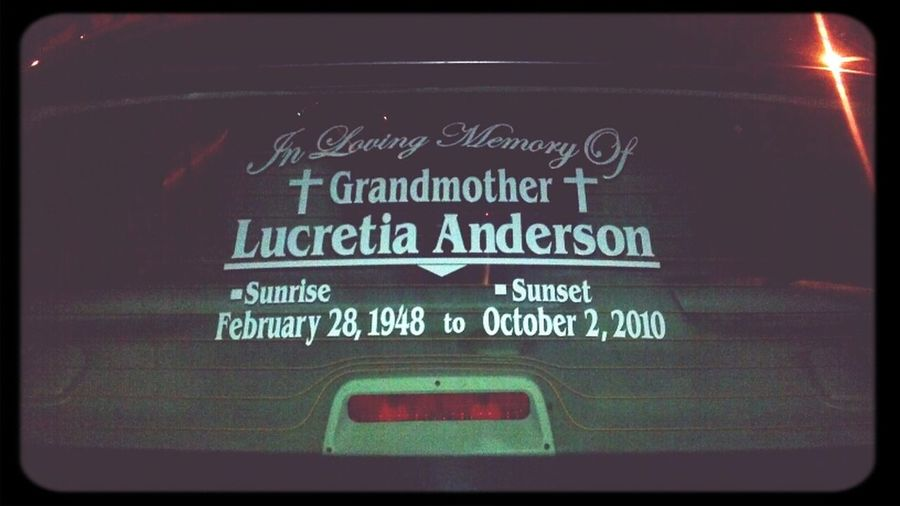 R.I.P. Grandmother