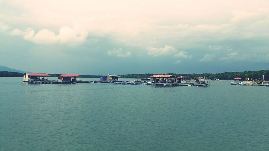 Floating Fish Farm Water Outdoors Scenics Sky Tranquility Tranquil Scene Nature Day HuaweiP9plus P9 Huawei P9PlusPhotography Huaweimobile P9photography P9leica HuaweiP9 Huawei Boats P9 P9plus