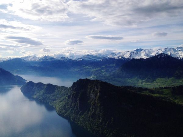 Aerial View Mountain Beauty In Nature Nature No People Switzerland Lake