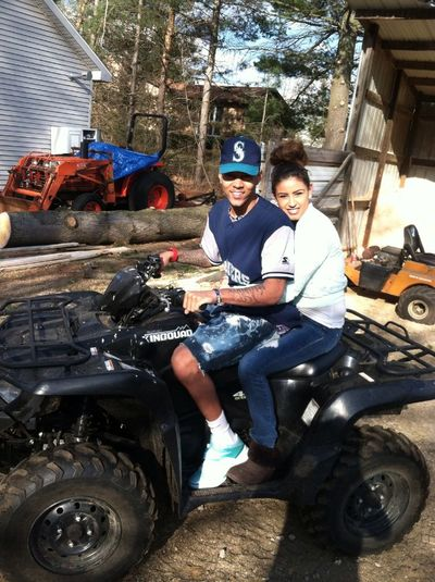 Baby & I on a 4-wheeler