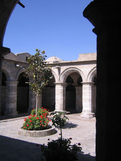 Arch Architecture Arequipa Arequipa - Peru Building Exterior Built Structure Clear Sky Day History Monastary Monasterio De Santa Catalina No People Outdoors Travel Destinations