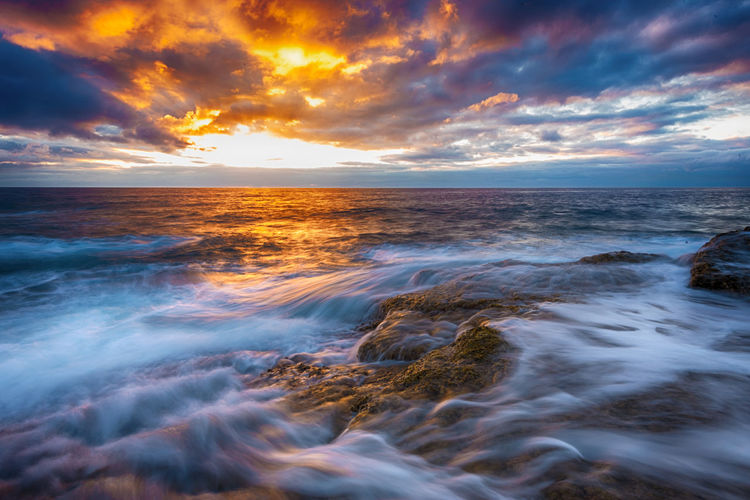 morning glory Nature Beach Beauty In Nature Cloud - Sky Horizon Horizon Over Water Idyllic Land Longexposure Motion Nature No People Ocean Outdoors Scenics - Nature Sea Seascape Sky Sunrise Sunset Tranquil Scene Tranquility Water Waterfront Wave Waves