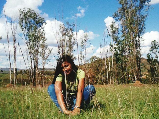 Girl. Countryside... Still smiling..