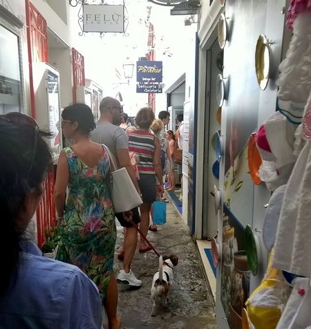 Shopping in Positano Amalfitan Coast Business Campania Cane Casual Clothing Colours Costiera Amalfitana Enjoyment Front View Gente Happiness Italie Italien Italy Lifestyles Little Dog Negozio Outdoor Photography People Positano, Italy Real People Retail  Shopping Streetphotography Vicolo